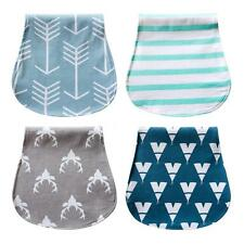 Baby Burp Cloths Drool Bibs Drool Pinafore 3 Absorbent Layer For Girls Boys B4R1