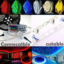 5-50M SMD 3528 300 LEDs Flexible LED Strip Light 12V RGB Remote Power Adapter