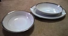 Wallace Heritage - Newport - Oval Bowl and Underplate and Large Round Bowl