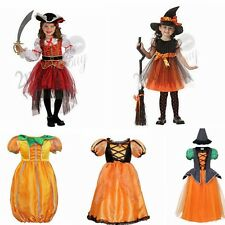 Kid Girl Pirate Witch Pumpkin Fancy Dress Party Halloween Costume Outfit Clothes