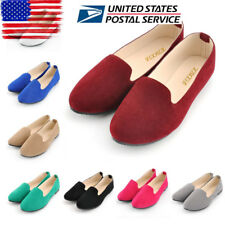 US Womens Flat Pumps Ladies Ballet Ballerina Office Work Dolly Bridal Shoes Size
