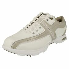 Hi Tec Covent Garden Ladies White/Stone Leather/Synthetic Golf Shoes with Cleats