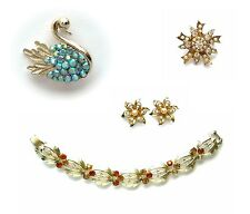 CORO Vintage Jewelry Pieces - Bracelet, Pins, Earrings - choose your faves