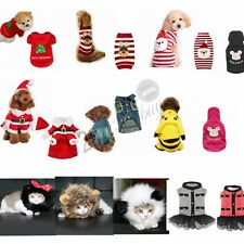 Pet Dog Christmas Costume Jumper Knit Puppy Cat Coat Sweater Apparel Cosplay New