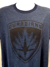 Guardians of the Galaxy 2 CREST Ringer Men's T-Shirt -Blue Heather MARVEL NEW!!