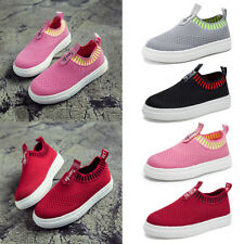Kids Mesh Breatheable Slip on Casual Loafers Students Sneakers Boys Sport Shoes