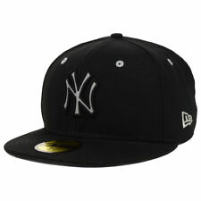 New York Yankees MLB Reflective City Black Cap Hat New Era Fitted Flat Bill Brim
