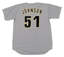 RANDY JOHNSON Houston Astros 1998 Majestic Throwback Away Baseball Jersey