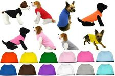 Nice Quality Plain Blank Dog Tee Shirt Tank Top Clothes for Dogs Puppy XS-6XL