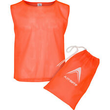 Athllete Scrimmage Vest / Pinnies / Team Practice Jerseys with FREE Carry Bag,