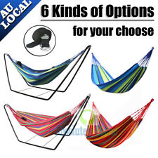 Double Rainbow Hammock Air Chair Steel Frame Stand Or 200KG Hammock Cloth AU