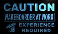 """16""""x12"""" m632-b Caution Wake boarder at Work Neon Sign"""