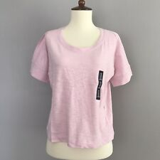 NEW Gap PINK Basic T-Shirt Top Shirt Semi Cropped Loose Fit Women's XS-S NWT