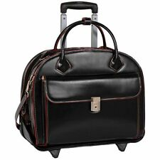 "McKlein USA W SERIES GLEN ELLYN 15.4"" Leather Detachable-Wheeled Laptop Case"