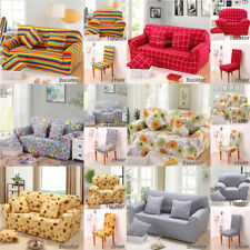 Universal Chair Sofa 1/3 Seater Settee Stretch Elastic Slipcover Couch Protector