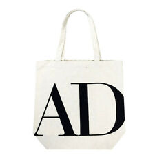 Unisex Ecofriendly AD Print Canvas Tote Shopping Bag Large Size Beige