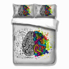 Brain Quilt Doona Duvet Cover Set Single King Queen Size Bed Cover Pillowcases