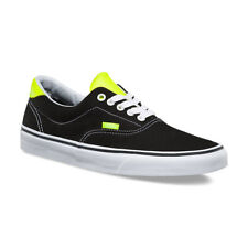 Vans ERA 59 Mens Shoes (NEW) Black Yellow Neon Leather SIZE 7-13 : Free Shipping