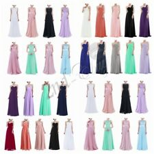 Women's Long Chiffon Bridesmaid Evening Gown Formal Party Prom Dress Maxi Dress