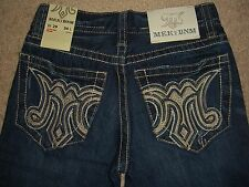 MEK DENIM Palma Straight Leg Dark Blue Denim Jeans Mens Size 29 New $138