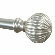Roxton Adjustable Single Curtain Rod With Decorative Round Finial
