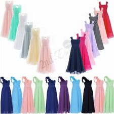 Flower Girl Chiffon Princess Dress Kid Party Pageant Wedding Junior Prom Dresses