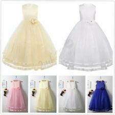 Flower Girl Dress Layered Tulle Formal Wedding Pageant Wedding Bridesmaid 2-14 T