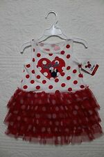 NEW DISNEY JUMPING BEANS BABY GIRLS MINNIE MOUSE RUFFLE DRESS SIZE 24 MONTHS