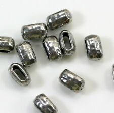 Crimp Beads, TierraCast, 10mm Barrel Beads, Antiqued Pewter, 4 or More, 9240