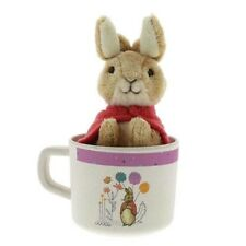 Official Beatrix Potter Organic Mug and Soft Toy Set - Peter or Flopsy Rabbit