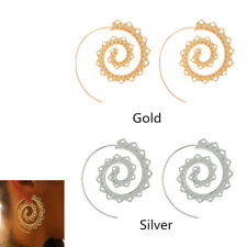 Exaggerated Round Spiral Drop Earrings Gear Earrings Love Heart Whirlpool