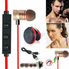 Red KM56 Magnetic Bluetooth Handsfree Headset Earphone For Cell Phone Sony /Vivo