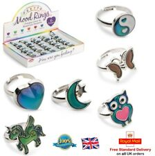 COLOUR CHANGING MOOD RING Pretty Mode Ring Girls Boys Toy Gift Stocking Filler