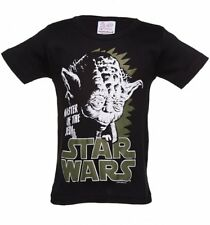 Official Kids Black Star Wars Yoda Master Of The Jedi T-Shirt