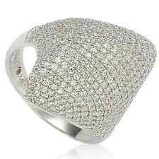 Suzy Levian Sterling Silver Pave Cubic Zirconia Pave Dome White