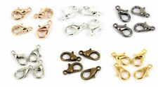 100Pcs Silver/Golden/Black Plated Lobster Claw Clasps Hooks Findings DIY 10mm