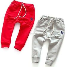 Toddler Kids Drawstring Sweatpants Trousers Child Boys Girls Harem Pants Apparel