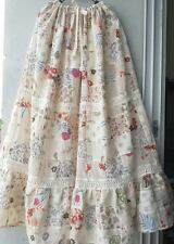 BOHO/HIPPY/GYPSY Long Maxi Skirt Cotton100% Patchwork Tiered CRINKLE BELLY DANCE
