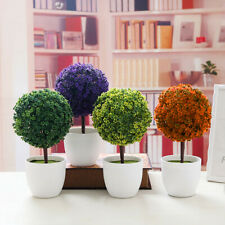 Colorful Mini Artificial Topiary Tree Ball Plants Pot Garden Office Home Indoor