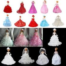 Multi Fashion Party Ball Gown Outfit Wedding Dress Set for Barbie Doll with ACCS