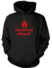 Massive Attack Hoodie Blue Lines Logo Trip Hop Portishead Zero 7 Sweater