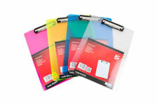 5 Star Solid Plastic Durable Clipboard With Rounded Corners A4 QTY & Colour