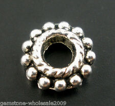 Wholesale Lots Silver Tone Flower Spacer Beads 8mm Findings