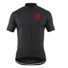 Men's Black Cycling Jersey Shirts Vintage Bicycle Cycle Jersey Top Coolmax S-5XL