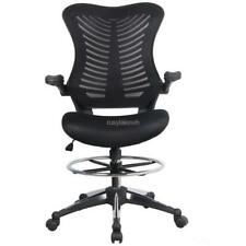 Ergonomic Adjustable Drafting Reception Office Stool-Chair with Armrests RLWH