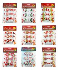 Christmas Wooden Pegs In A Pack Of 6 Xmas Craft Card Hanging Tree Decorations