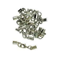 12 Sets Lobster Clasp Clip Fold Over Cord End Crimp Caps Bail Tips Connector