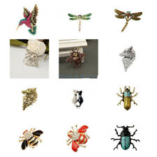 Enamel Vintage Insect Brooch Pin Cute Costume Jewelry Animal Lover Dress Decor