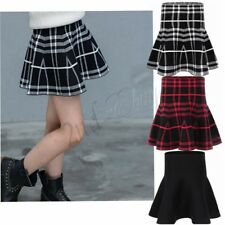 Girl school Tennis High Waist Skater Flared Pleated Short Mini Plaid Skirt Dress