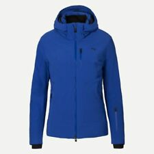 Womens KJUS EDELWEISS INSULATED HOODED SKI JACKET Alaska Blue EUR 36 US 6 NEW
